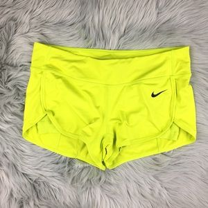 Nike Dri-Fit Ace Court Tennis Shorts Neon Yellow